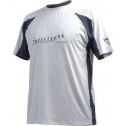 T-shirt SUP'AIR Meryl / Ecopanda  blanc/gris