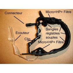 Laryngophone XS souple Icom coude