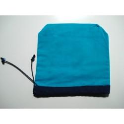Pochette de rangement turquoise