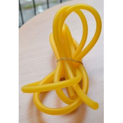 Durite d'essence HQ 5 mm transparente JAUNE silicone