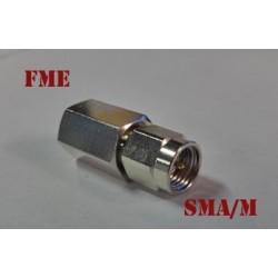 Adaptateur radio FME-Mâle/ BNC-Mâle nouvelle connectique