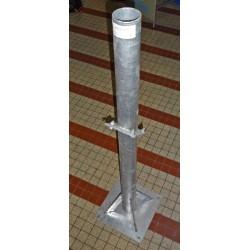 Support sol mât 1 M 20 Diamêtre 75 mm galvanisé