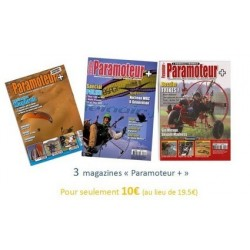 """OFFRE SPECIALE : 3 magazines """"Paramoteur +"""" pour 10€"""