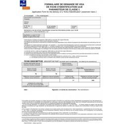 Fiche d'identification officielle