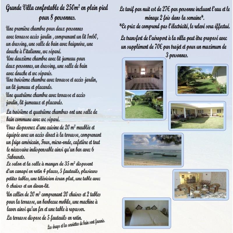 Villa de vacances à l'Île Maurice