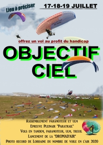 "Opération paramoteur ""OBJECTIF CIEL NANCY 2020"""